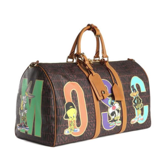 Item - Duffle Looney Tunes Brown Faux Leather Weekend/Travel Bag