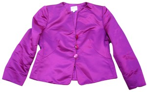 Armani Collezioni Satin Evening Cropped Top Royal Purple