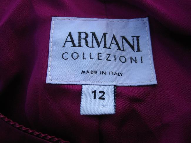 Armani Collezioni Satin Evening Cropped Top Royal Purple Image 2