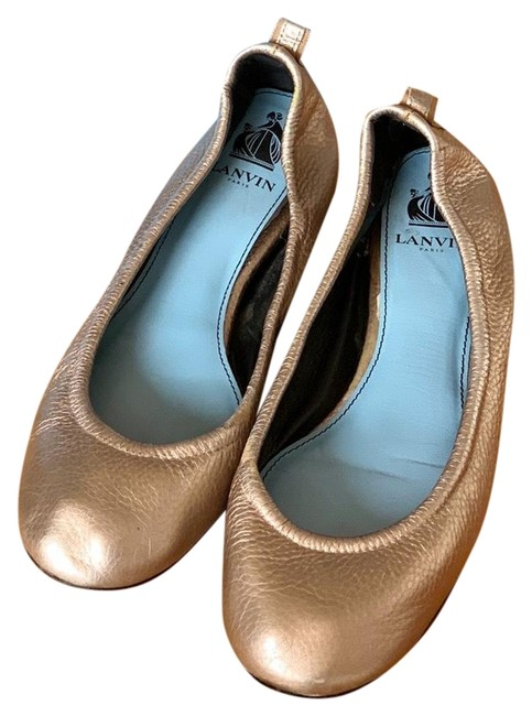 Item - Pale Gold In Calf Leather Flats Size US 10 Regular (M, B)