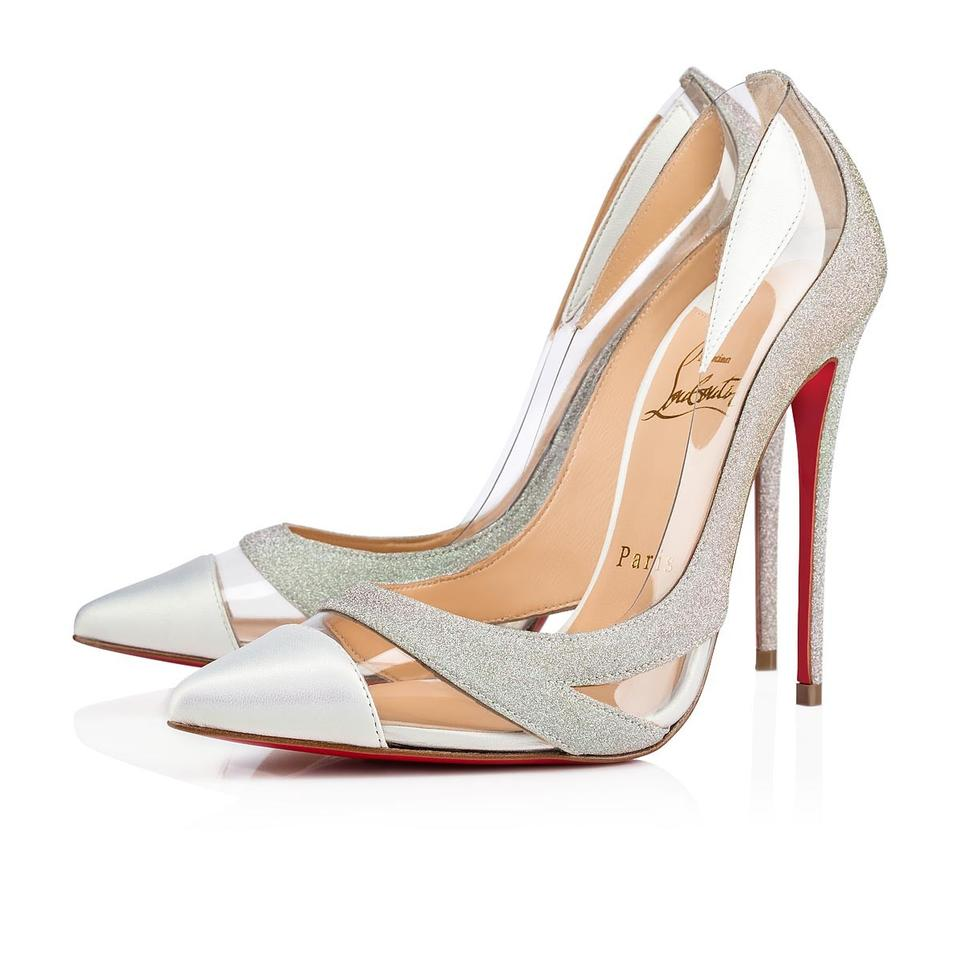 5bafc264988 Christian Louboutin Silver Blake Is Back 120 Pvc Transparent Glitter Ab  White Stiletto Heel Pumps Size EU 38 (Approx. US 8) Regular (M, B)