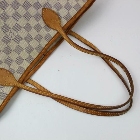 Louis Vuitton Neverfull Mm Damier White Tote in Azur Image 1