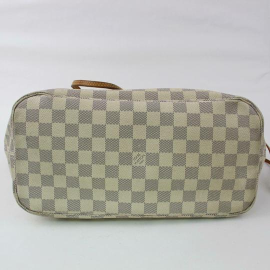 Louis Vuitton Neverfull Mm Damier White Tote in Azur Image 3