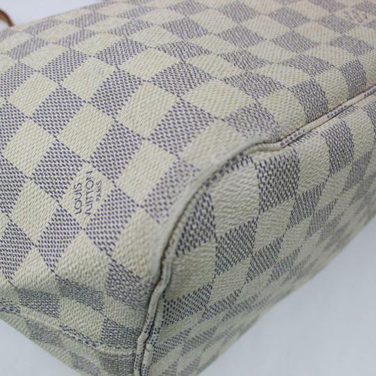 Louis Vuitton Neverfull Mm Damier White Tote in Azur Image 4