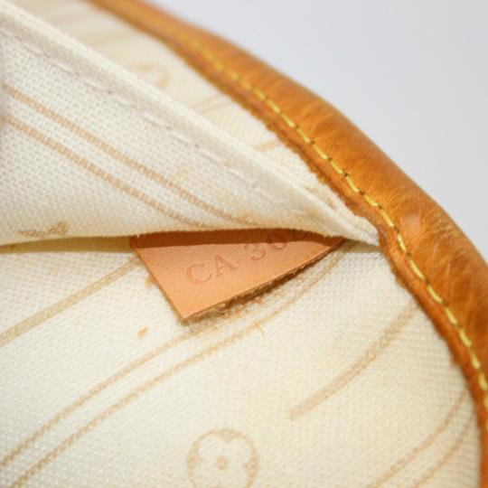 Louis Vuitton Neverfull Mm Damier White Tote in Azur Image 6