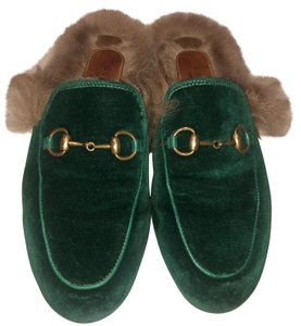 Gucci Slippers Loafers Forest green Mules