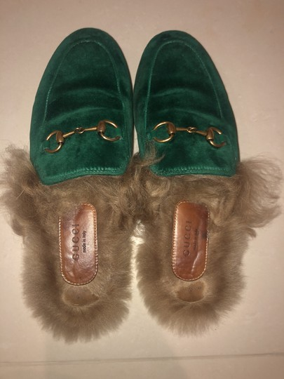 Gucci Slippers Loafers Forest green Mules Image 5