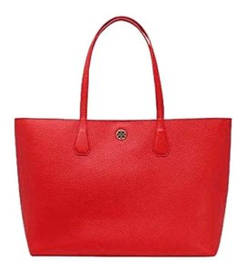 Tory Burch Tote in Liberty Red/ Beige