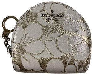 Kate Spade Sari Larchmont Avenue Breezy Floral Small Leather Wallet Keychain