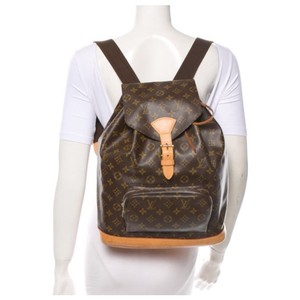 Louis Vuitton Monogram Montouris Leather Backpack