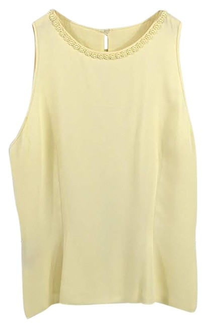Item - Ivory Pearl Trim #170-426 Blouse Size 4 (S)