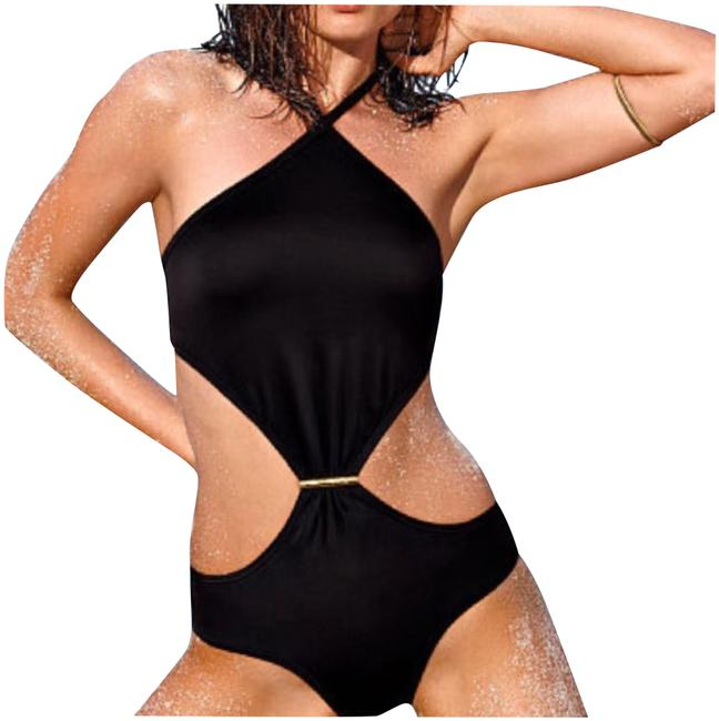 Item - Black Halter Monokini One-piece Bathing Suit Size 4 (S)