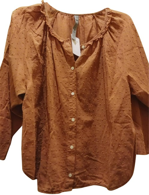 Item - Brown L 3(L) Swiss Blouse Size 12 (L)