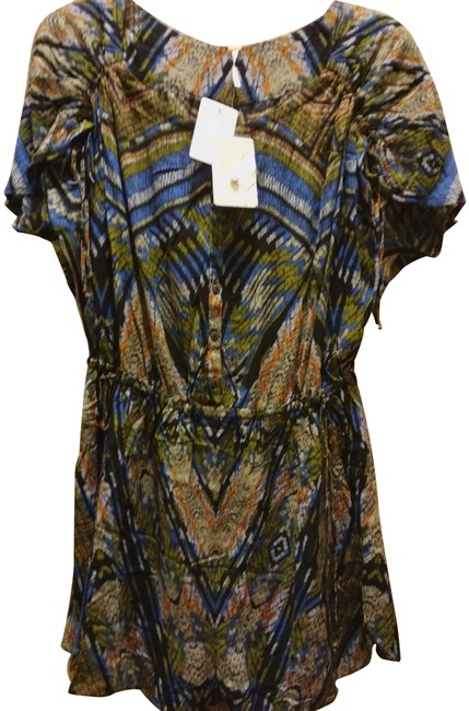 Item - Multiple M Print Rushed Sleeve Romper/Jumpsuit