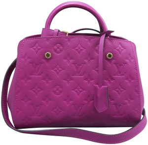 Louis Vuitton Calfskin Montaigne Bb Satchel in Deep Pink