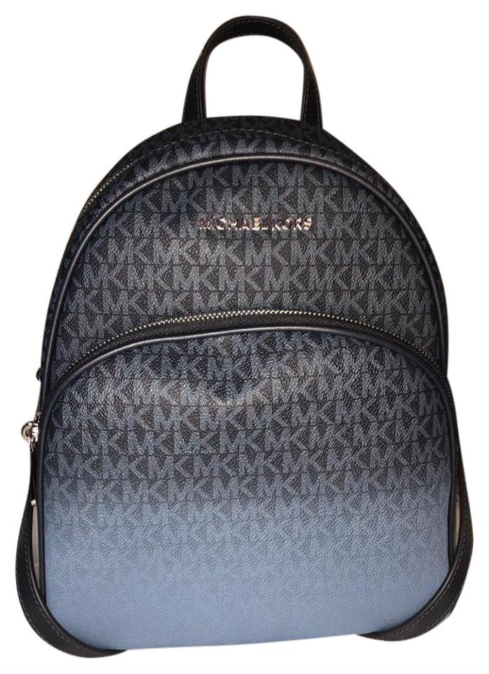 5a82a4fffc3ba1 Michael Kors (New) Abbey Medium French Blue Pebbled Leather Backpack ...