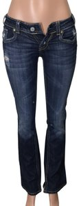 MEK DNM Low Rise Distressed Boot Cut Jeans-Distressed