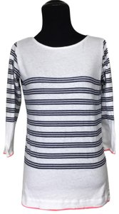 Majestic Filatures Stripe Cotton Sweater