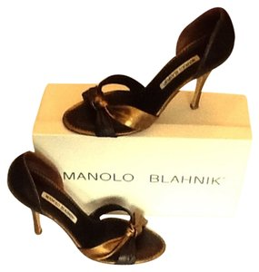 Manolo Blahnik Black & Bronze Pumps