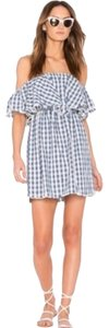 MISA Los Angeles short dress Plaid Revolve Gingham Blue on Tradesy