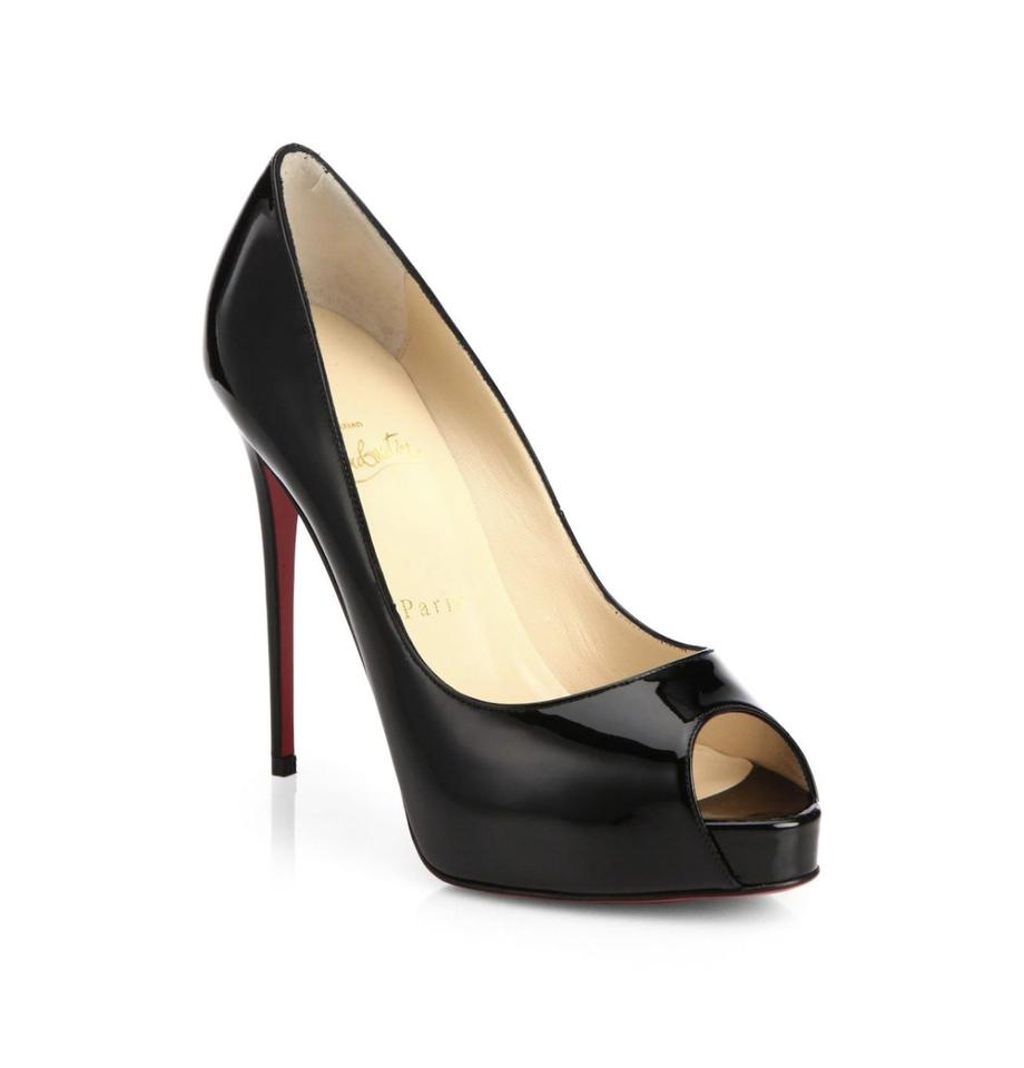 afa2004345b Christian Louboutin Black New Very Prive 120 Patent Leather Peep 8 Pumps  Size EU 38 (Approx. US 8) Regular (M, B)