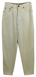 Gucci #high Waisted #off White #cream #vintage #cotton Boyfriend Cut Jeans-Light Wash