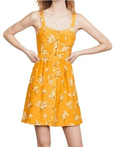 Madewell short dress yellow Silk Floral Butterfly on Tradesy