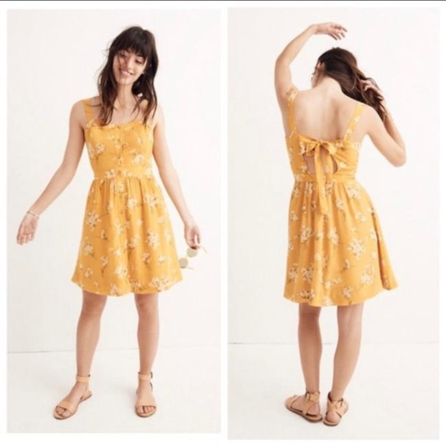 Madewell short dress yellow Silk Floral Butterfly on Tradesy Image 1