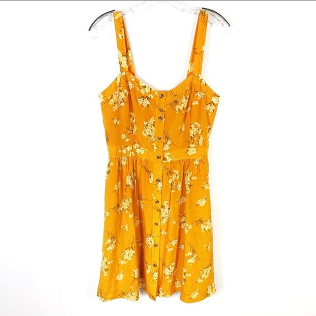 Madewell short dress yellow Silk Floral Butterfly on Tradesy Image 2