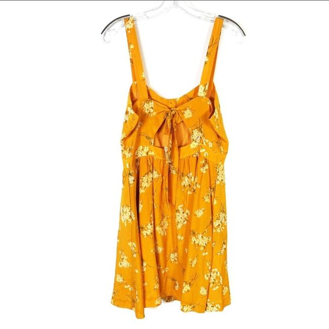 Madewell short dress yellow Silk Floral Butterfly on Tradesy Image 3