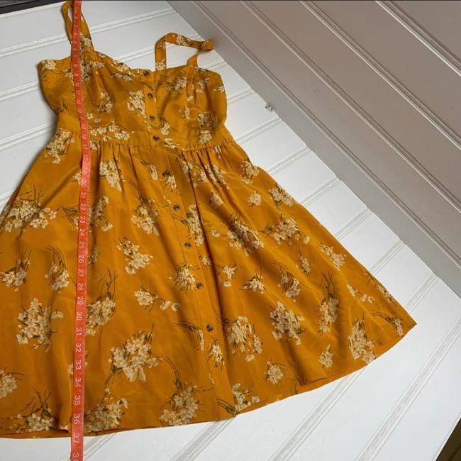 Madewell short dress yellow Silk Floral Butterfly on Tradesy Image 6