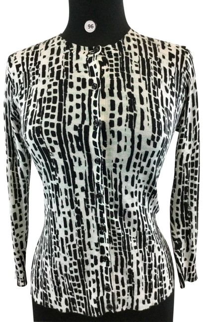 Item - Black/White Cardigan Size 6 (S)