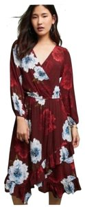 5a5717579b7a Plenty by Tracy Reese short dress red Midi Anthropologie Wrap Floral on  Tradesy