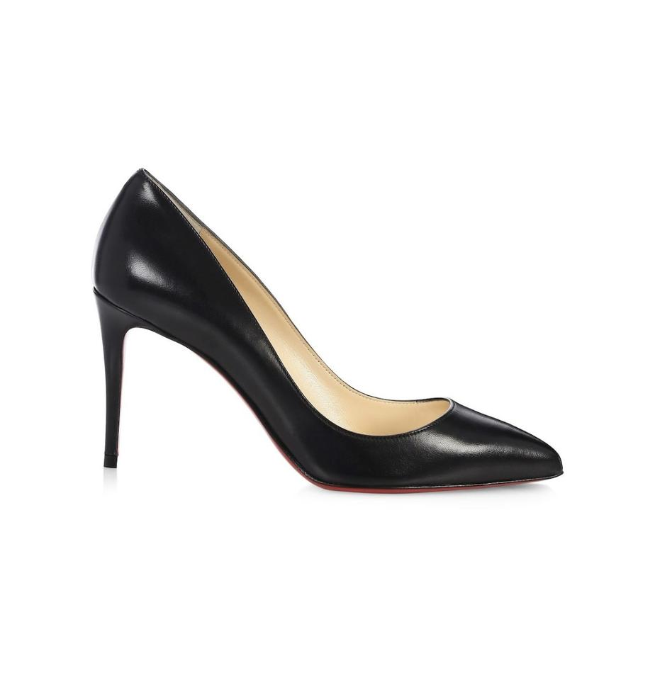 6dac90fea2 Christian Louboutin Black Pigalle Follies 85 Leather 7 Pumps Size EU ...