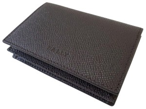 Bally BALLY Leather Business Card case thick pocket ID Bifold Holder wallet