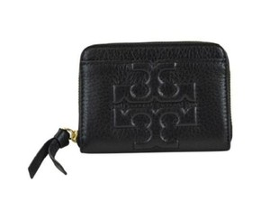 Tory Burch Bombet Bomebe-T Zip Coin Case Mini Wallet w/ Keychain