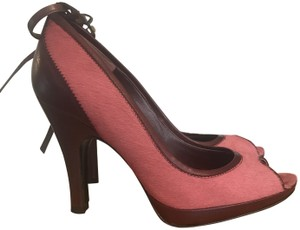 Pedro Garcia Made In Spain Leather Pink and Maroon Pumps