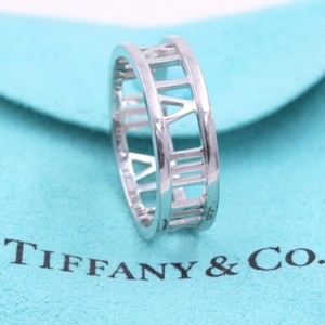 Tiffany & Co. White Gold Atlas Open Ring In 7 Mm Size 8.5 Women's Wedding Band