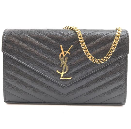 Preload https://img-static.tradesy.com/item/25457918/saint-laurent-chain-wallet-clutch-30038-rare-monogram-ysl-detachable-strap-envelope-black-with-gold-0-1-540-540.jpg