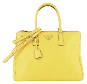 Prada Leather Tote in yellow
