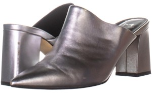 Marc Fisher Silver Mules