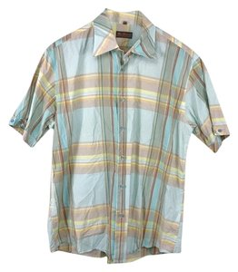 Ben Sherman Button Down Shirt light blue, yellow, tan