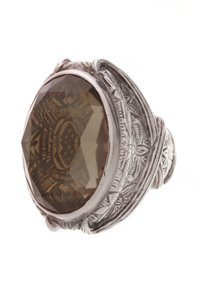 Stephen Dweck Stephen Dweck Oval Smoky Quartz Cocktail Ring - Silver Size 7