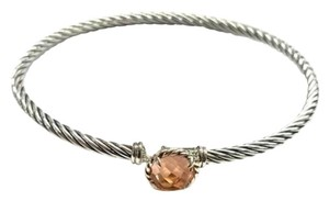 David Yurman FANTASTIC!! LIKE NEW!! David Yurman Chatelaine Bracelet with Morganite