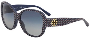 Tory Burch Navy/Red /Silver Ty7108 Sunglasses