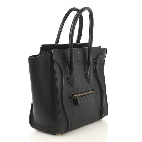 Céline Leather Tote in black Image 1