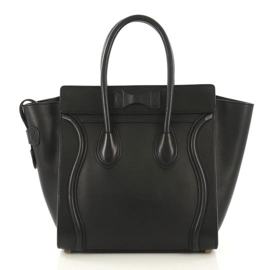 Céline Leather Tote in black Image 2