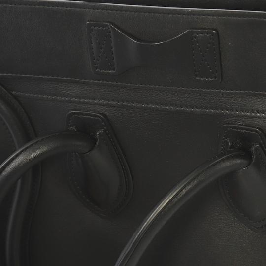 Céline Leather Tote in black Image 4