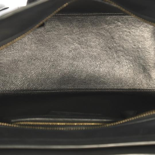Céline Leather Tote in black Image 6