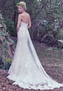 Maggie Sottero Lace Over Satin Jennita Traditional Wedding Dress Size 12 (L)